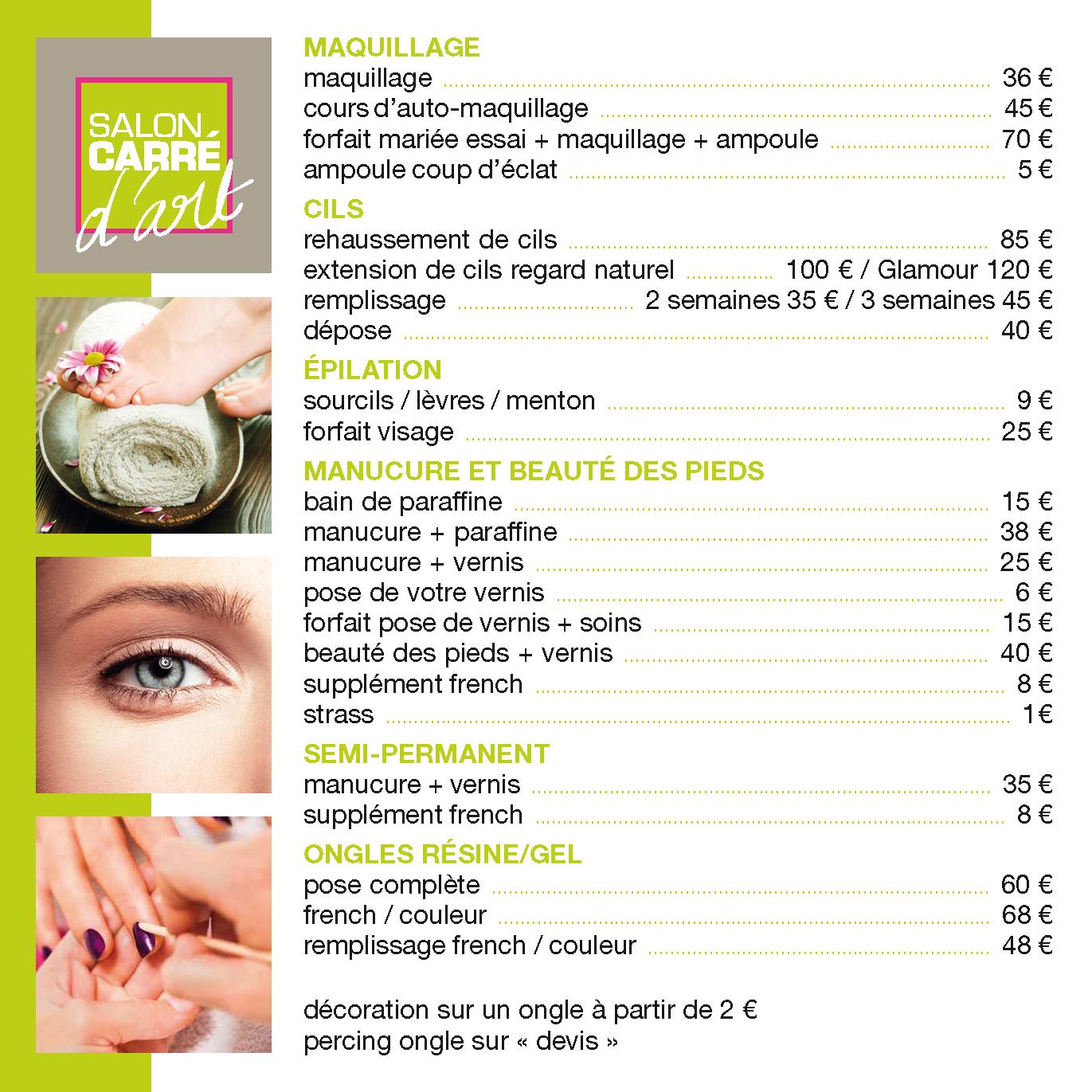 Fiche esthetique tarifs 2015 hdvalide2 page 1 coiffeur for Salon de coiffure tarif