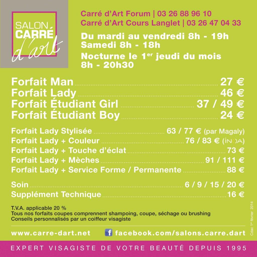 Tarifs coiffeur visagiste reims salon carr d 39 art for Salon de coiffure niwel tarifs