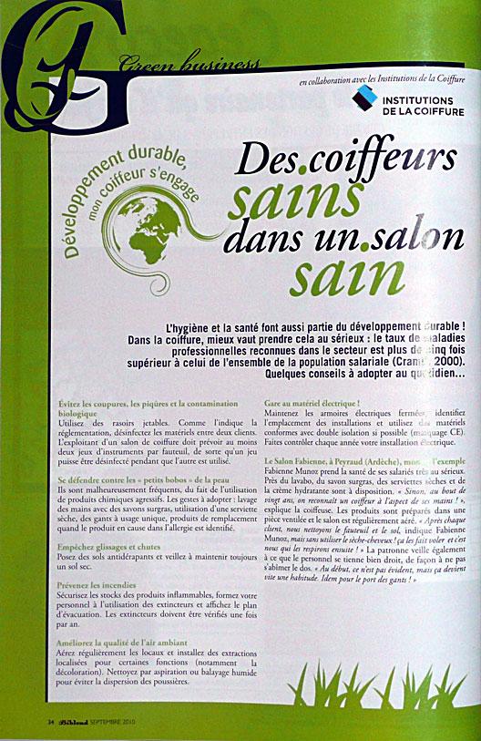 D veloppement durable coiffeur visagiste reims salon carr d 39 art - Salon developpement durable ...