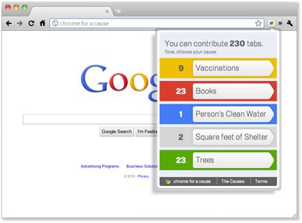 Le nouveau navigateur Chrome : initie le premier navigateur engagé !