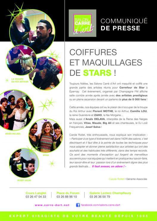 Communiqué presse A4-CARREFOURS DE STARS