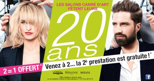 20 ans salon coiffure et barbier Carre d'art Reims et Champfleury