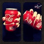 Manucure Maria déc 2015 rouge coca